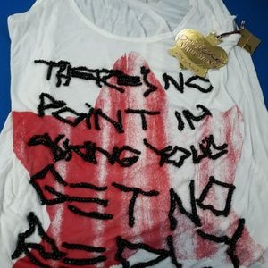 Punk Slogan  skinny Tank
